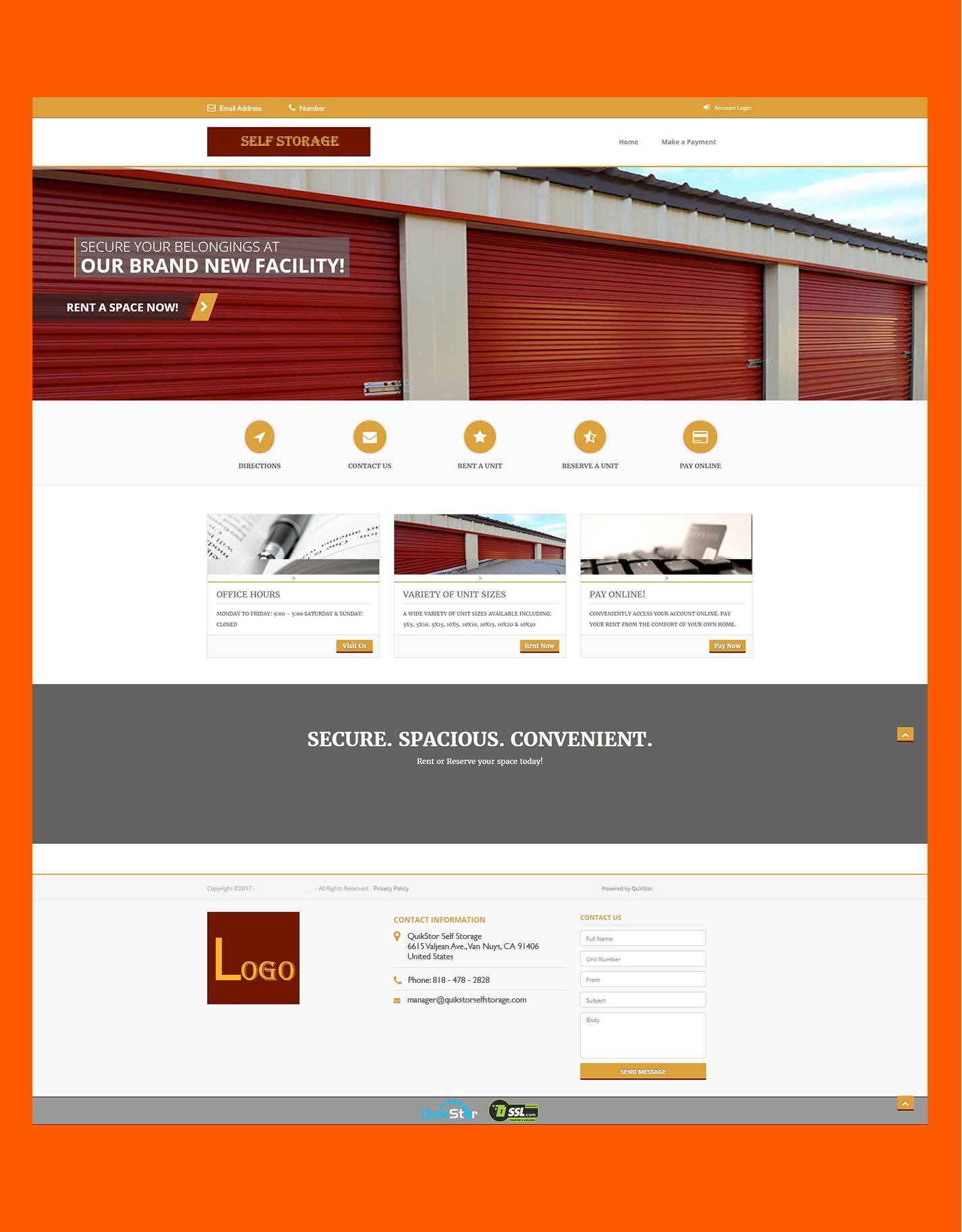 Self Storage Website Designs By QuikStor